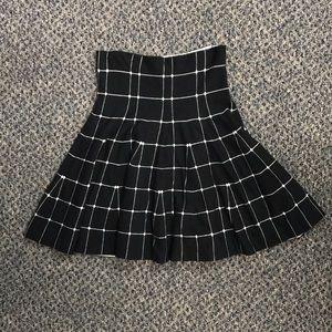 Wet Seal Black Grid Skirt